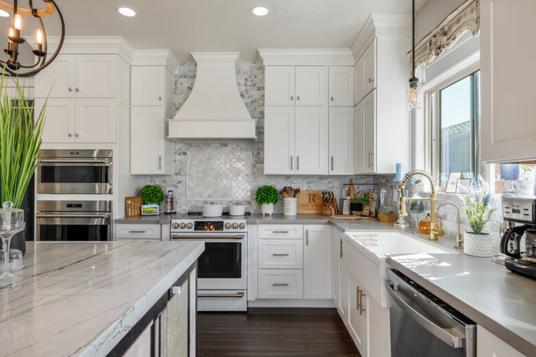 New home construction with custom kitchen in Deer Valley, AZ